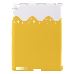 Beer Foam Yellow White Apple Ipad 3/4 Hardshell Case (compatible With Smart Cover) by Mariart