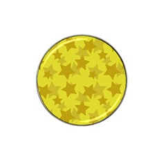 Yellow Star Hat Clip Ball Marker by Mariart