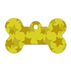 Yellow Star Dog Tag Bone (one Side) by Mariart