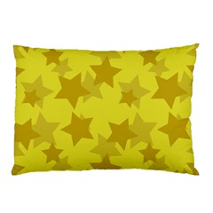 Yellow Star Pillow Case by Mariart