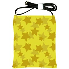 Yellow Star Shoulder Sling Bags by Mariart