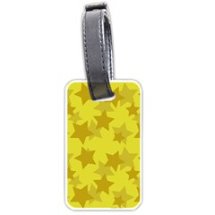 Yellow Star Luggage Tags (one Side)  by Mariart