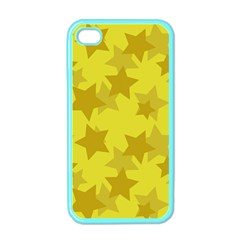 Yellow Star Apple Iphone 4 Case (color) by Mariart
