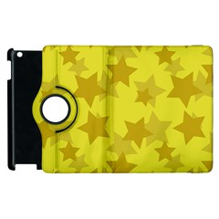 Yellow Star Apple Ipad 2 Flip 360 Case by Mariart