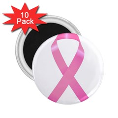 Breast Cancer Ribbon Pink 2 25  Magnets (10 Pack)  by Mariart