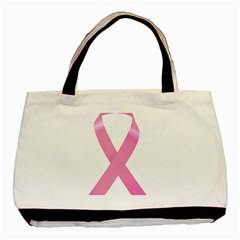 Breast Cancer Ribbon Pink Basic Tote Bag by Mariart