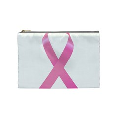 Breast Cancer Ribbon Pink Cosmetic Bag (medium)  by Mariart