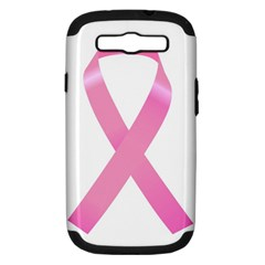 Breast Cancer Ribbon Pink Samsung Galaxy S Iii Hardshell Case (pc+silicone) by Mariart