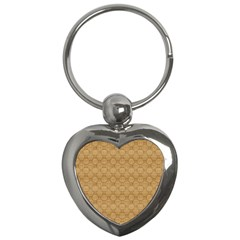 Chess Dark Wood Seamless Key Chains (heart)  by Mariart