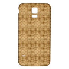 Chess Dark Wood Seamless Samsung Galaxy S5 Back Case (white) by Mariart