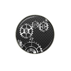 Chain Iron Polka Dot Black Silver Hat Clip Ball Marker (10 Pack) by Mariart