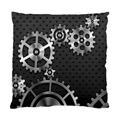 Chain Iron Polka Dot Black Silver Standard Cushion Case (two Sides) by Mariart
