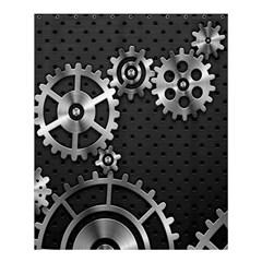Chain Iron Polka Dot Black Silver Shower Curtain 60  X 72  (medium)  by Mariart