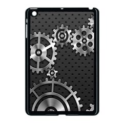 Chain Iron Polka Dot Black Silver Apple Ipad Mini Case (black) by Mariart