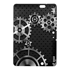 Chain Iron Polka Dot Black Silver Kindle Fire Hdx 8 9  Hardshell Case by Mariart