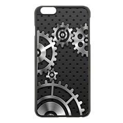 Chain Iron Polka Dot Black Silver Apple Iphone 6 Plus/6s Plus Black Enamel Case by Mariart