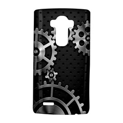 Chain Iron Polka Dot Black Silver Lg G4 Hardshell Case by Mariart