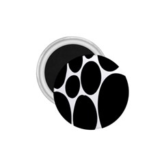 Dalmatian Black Spot Stone 1 75  Magnets by Mariart