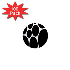 Dalmatian Black Spot Stone 1  Mini Magnets (100 Pack)  by Mariart