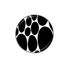 Dalmatian Black Spot Stone Hat Clip Ball Marker (4 Pack) by Mariart