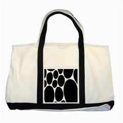 Dalmatian Black Spot Stone Two Tone Tote Bag by Mariart