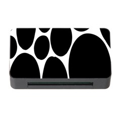 Dalmatian Black Spot Stone Memory Card Reader With Cf by Mariart