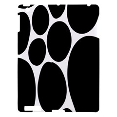 Dalmatian Black Spot Stone Apple Ipad 3/4 Hardshell Case by Mariart