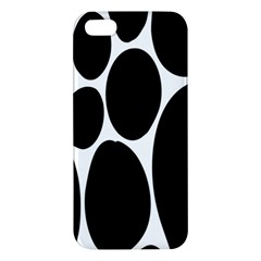 Dalmatian Black Spot Stone Apple Iphone 5 Premium Hardshell Case by Mariart