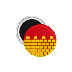 Firewall Bridge Signal Yellow Red 1 75  Magnets by Mariart