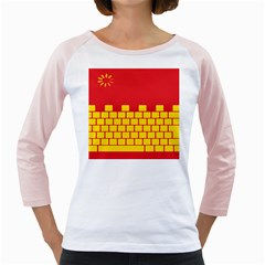 Firewall Bridge Signal Yellow Red Girly Raglans by Mariart