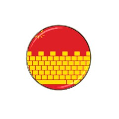 Firewall Bridge Signal Yellow Red Hat Clip Ball Marker (4 Pack) by Mariart