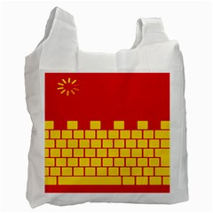Firewall Bridge Signal Yellow Red Recycle Bag (one Side) by Mariart