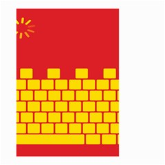 Firewall Bridge Signal Yellow Red Small Garden Flag (two Sides) by Mariart