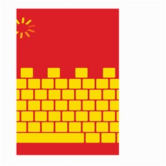 Firewall Bridge Signal Yellow Red Large Garden Flag (two Sides)