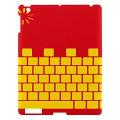 Firewall Bridge Signal Yellow Red Apple Ipad 3/4 Hardshell Case by Mariart