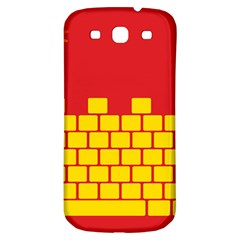 Firewall Bridge Signal Yellow Red Samsung Galaxy S3 S Iii Classic Hardshell Back Case by Mariart