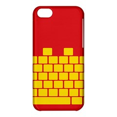 Firewall Bridge Signal Yellow Red Apple Iphone 5c Hardshell Case by Mariart