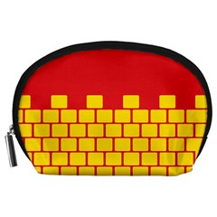 Firewall Bridge Signal Yellow Red Accessory Pouches (large)  by Mariart