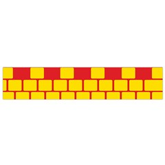 Firewall Bridge Signal Yellow Red Flano Scarf (small) by Mariart