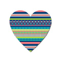 Aztec Triangle Chevron Wave Plaid Circle Color Rainbow Heart Magnet by Mariart