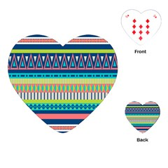 Aztec Triangle Chevron Wave Plaid Circle Color Rainbow Playing Cards (heart)  by Mariart