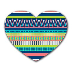 Aztec Triangle Chevron Wave Plaid Circle Color Rainbow Heart Mousepads by Mariart