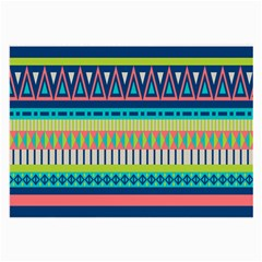 Aztec Triangle Chevron Wave Plaid Circle Color Rainbow Large Glasses Cloth by Mariart
