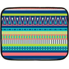 Aztec Triangle Chevron Wave Plaid Circle Color Rainbow Fleece Blanket (mini) by Mariart