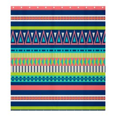 Aztec Triangle Chevron Wave Plaid Circle Color Rainbow Shower Curtain 66  X 72  (large)  by Mariart