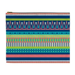 Aztec Triangle Chevron Wave Plaid Circle Color Rainbow Cosmetic Bag (xl) by Mariart