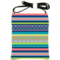 Aztec Triangle Chevron Wave Plaid Circle Color Rainbow Shoulder Sling Bags by Mariart