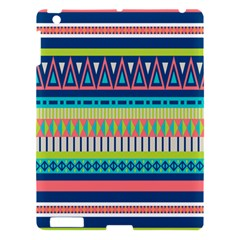 Aztec Triangle Chevron Wave Plaid Circle Color Rainbow Apple Ipad 3/4 Hardshell Case by Mariart