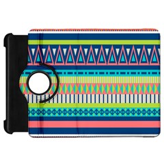 Aztec Triangle Chevron Wave Plaid Circle Color Rainbow Kindle Fire Hd 7  by Mariart