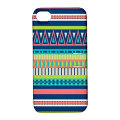Aztec Triangle Chevron Wave Plaid Circle Color Rainbow Apple Iphone 4/4s Hardshell Case With Stand by Mariart